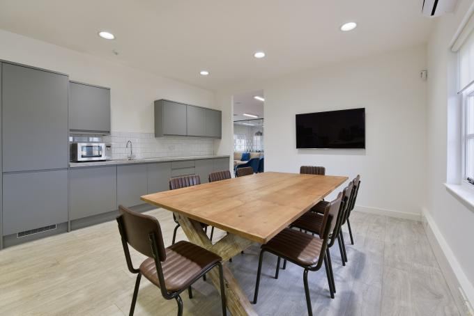 Refurbished Office Kitchen Dining Area | IPS Interiors